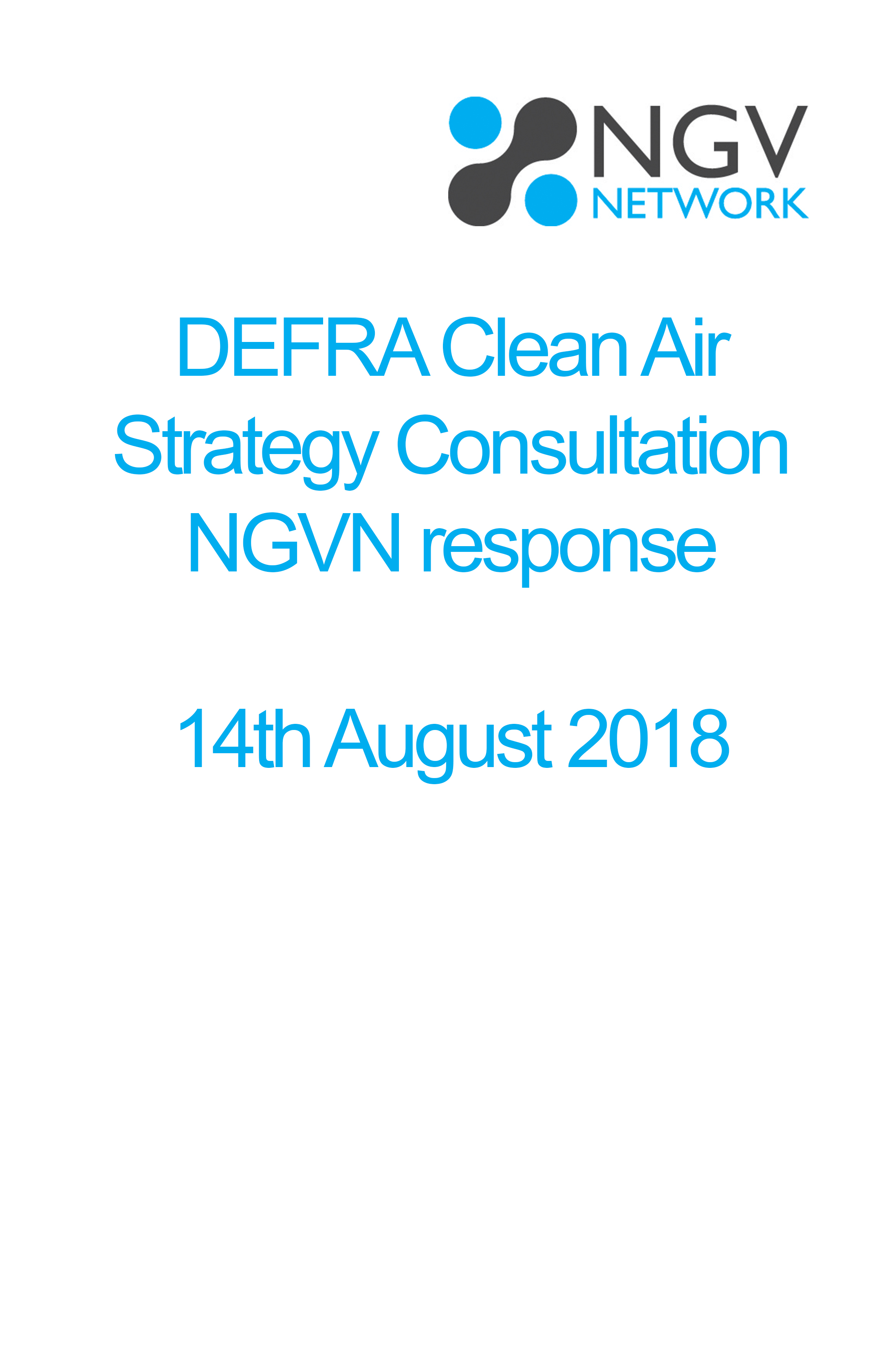 DEFRA Clean Air Strategy Consultation NGVN response