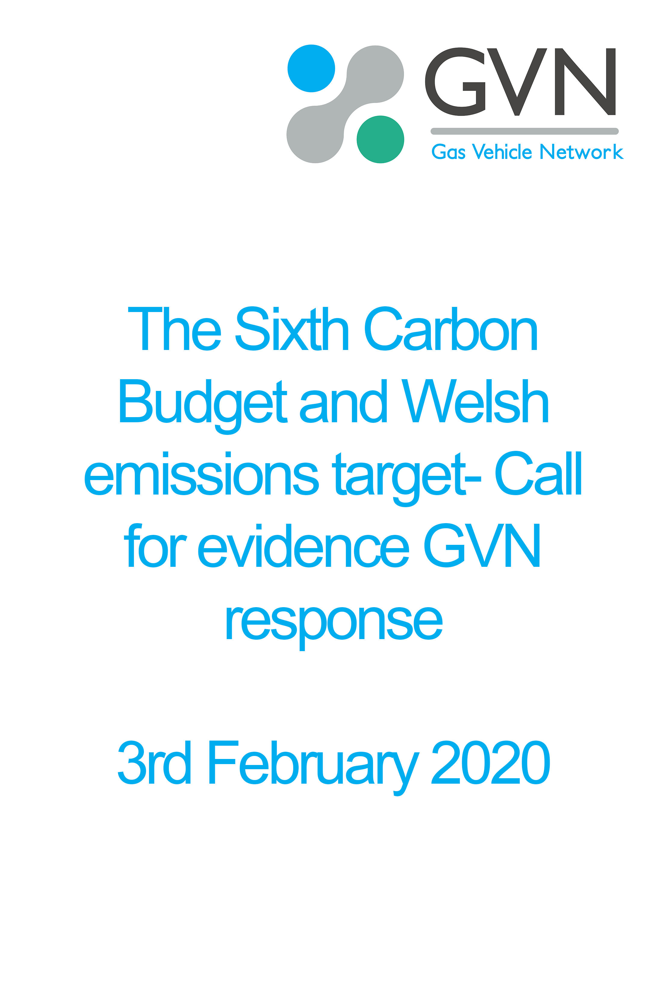 The Sixth Carbon Budget and Welsh emissions target- Call for evidence