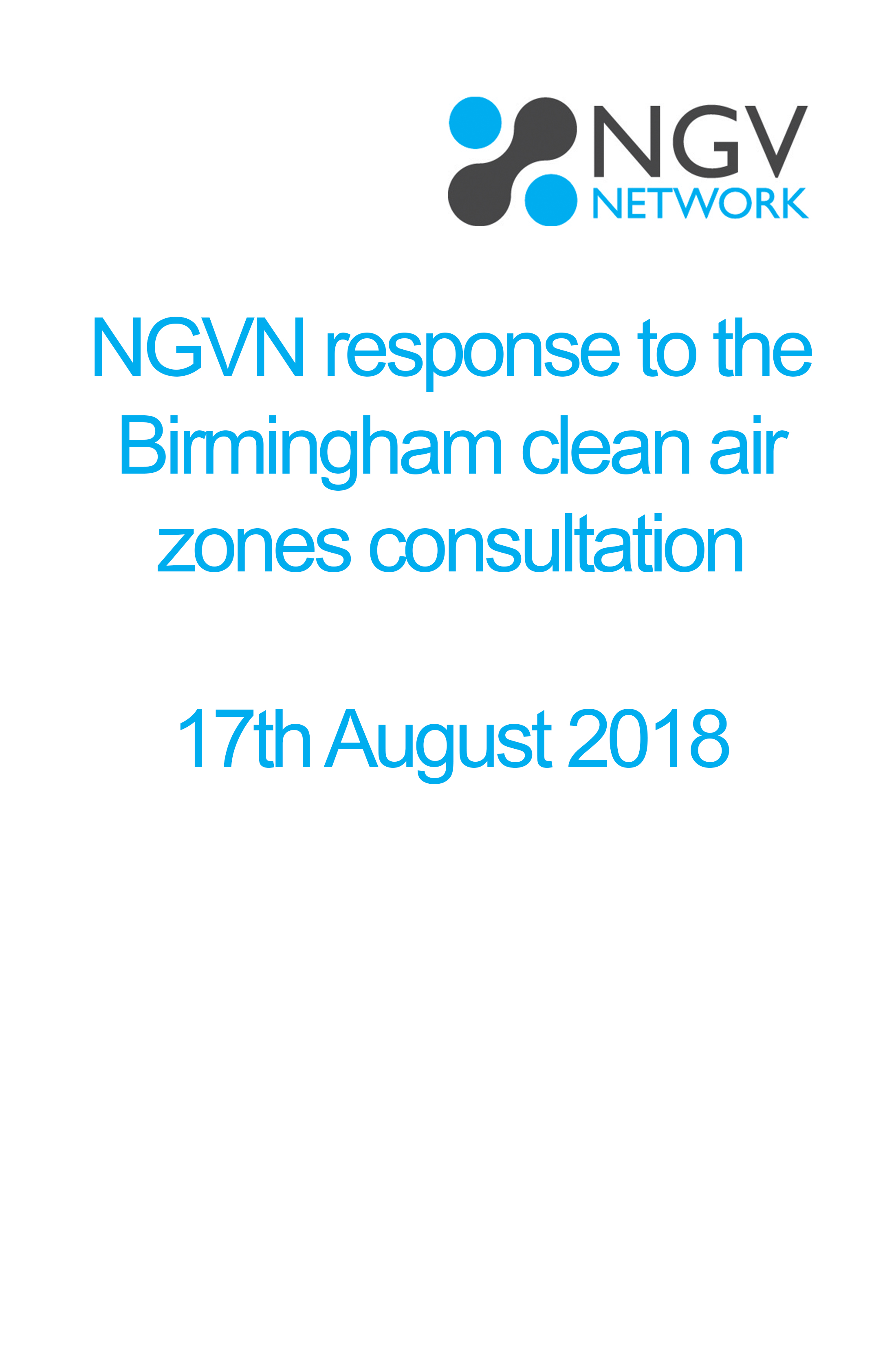 NGVN response to the Birmingham clean air zones consultation